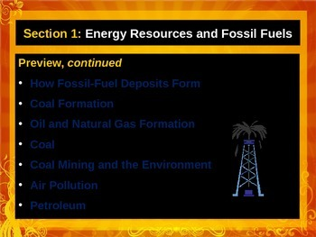 Chapter 17 Environmental Science Energy Resources and Fossil Fuels