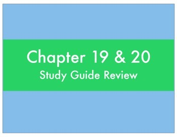 Chapter 19 & 20 Review - History Alive 8th Grade