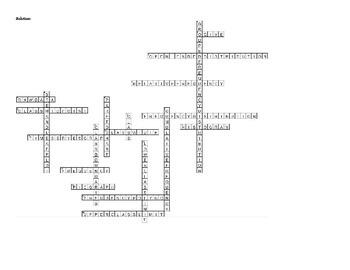 Chapter 2 Crossword Puzzle Organizing Data