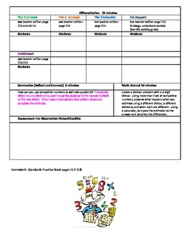 Chapter 2 Lesson 5 Grade 5 Go Math Lesson Plan