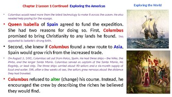 "McGraw Hill US History Chapter 2 Powerpoint ""Exploring the Americas"""