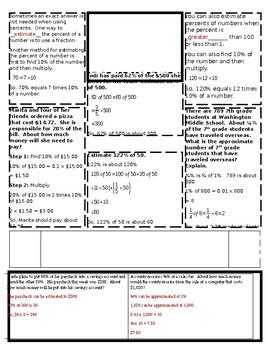 Chapter 2: Percents Doodle Notes (Bundle)