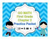 Chapter 2 Practice Math Packet Grade 1 Go Math