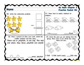 Chapter 2 Practice Math Packet Grade 1 Go Math