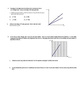 Chapter 2:  Proportional & Linear Relations (All Assessments)