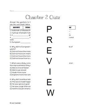 Chapter 2 Quiz - Social Studies