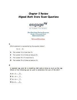 Go Math Chapter 2 Review: Aligned with Math State Test Questions From Engage NY