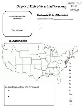 American Govt: Chapter 2: Roots of American Democracy PowerPoint Notes