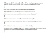 Chapter 2 Section 2: The War for Independence