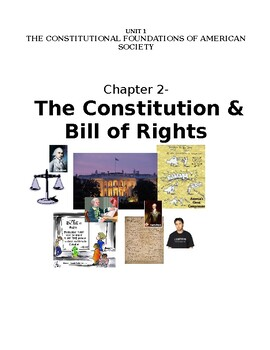 Chapter 2- The US Constitution and Bill of Rights:  Notes Packet