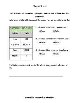 Chapter 2 test Go Math! Represent and Interpret Data