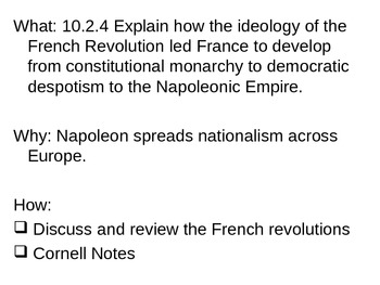Chapter 20 - The French Revolution and Napoleon Review - P