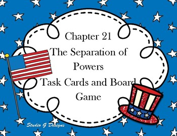 Chapter 21 Task Cards and Board Game