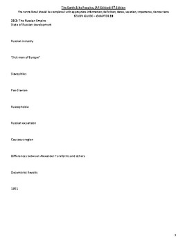 Chapter 23 Study Guide - The Earth & Its Peoples 6th Ed