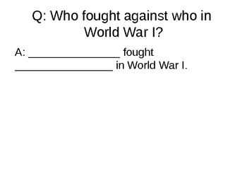 Chapter 25 - World War I Review - Powerpoint