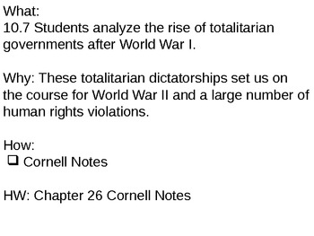 Chapter 26 - Totalitarian Dictatorships Review - Powerpoint