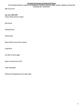 Chapter 29 Study Guide - The Earth & Its Peoples 6th Ed