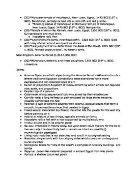 AP Art History Unit 3 (Ancient Egypt) Study Guide