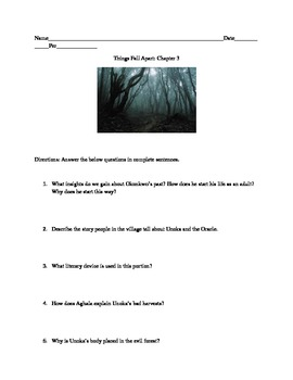 Chapter 3: Comprehension Questions and Activity