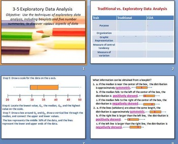 Chapter 3 Data Description PowerPoint Notes