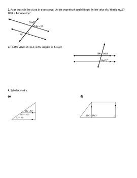 Chapter 3 Geometry Notes