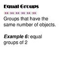 Chapter 3 Go Math Grade 3 Vocabulary Word Wall