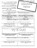 Chapter 3: Integers Doodle Notes (Bundle)