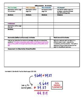 Chapter 3 Lesson 1 Grade 5 Go Math Lesson Plan