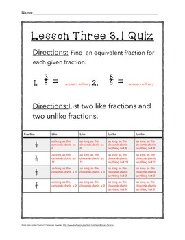 Chapter 3 Lesson 1 Quiz