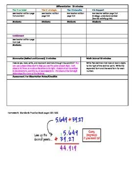 Chapter 3 Lesson 2 Grade 5 Go Math Lesson Plan