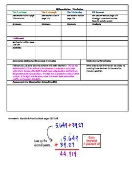 Chapter 3 Lesson 3 Grade 5 Go Math Lesson Plan