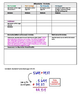 Chapter 3 Lesson 4 Grade 5 Go Math Lesson Plan