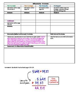 Chapter 3 Lesson 4 Grade 5 Go Math Lesson Plan