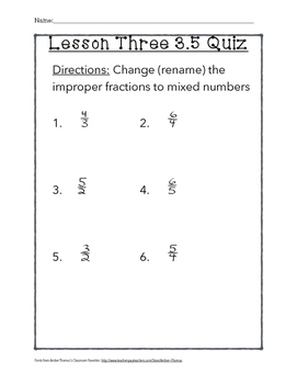 Chapter 3 Lesson 5 Quiz