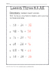 Chapter 3 Lesson 6 Quiz