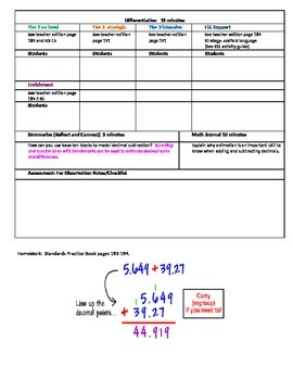 Chapter 3 Lesson 7 Grade 5 Go Math Lesson Plan