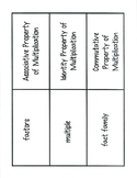 Chapter 3 Math Vocabulary Cards (4th Grade)