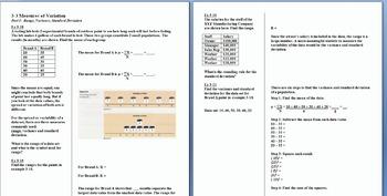 Chapter 3 Notes Bundle Data Description