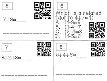 QR code Review Game for Chapter 3, Go Math