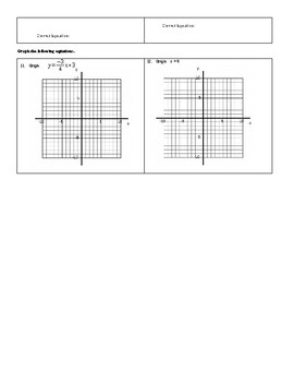 Chapter 3 - Representations of Lines (All Assessments)