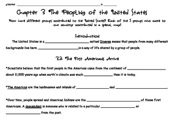 Social Studies Alive! Chapter 3 Study Guide, Grade 4