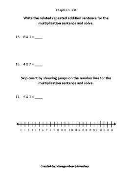 Chapter 3 test Go Math! Understand Multiplication