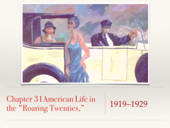 "Chapter 31 American Life in the ""Roaring Twenties"" 1919-1929"