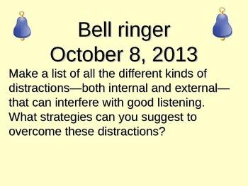 Chapter 4 Bellringers