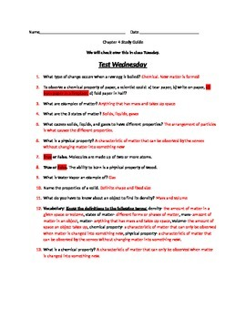 Chapter 4 Georgia Science 5th Grade Study Guide