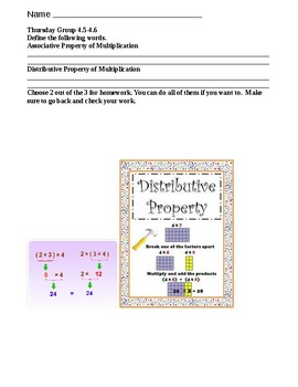 Chapter 4 Go Math 4.5-4.6 Low Group