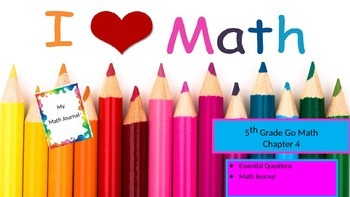 Chapter 4 Go Math Essential Questions and Journal Writing Prompts