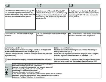 Chapter 4 Go Math Lesson Plans
