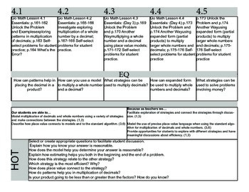 Chapter 4 Go Math Lesson Plans