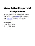Chapter 4 Go Math Word Wall Vocabulary Grade 3